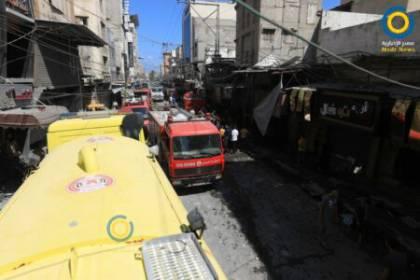 الاقتصاد بغزة تبدأ بحصر أضرار انفجار سوق الزاوية