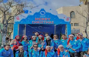 بالصور - أجواء احتفالات عيد الميلاد المجيد بساحة المهد في مدينة بيت لحم