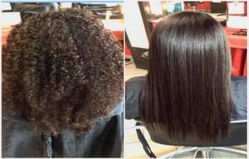 Hair Straightener Smoothing