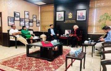 مدير صندوق التشغيل ومحافظ رام الله والبيرة يتفقان على تعزيز العمل لدعم قطاع الشباب والخريجين