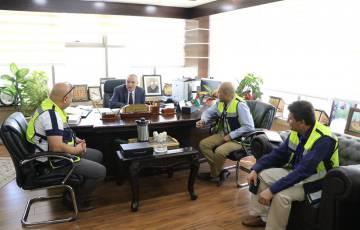 وزير الاتصالات يستقبل الإدارة العامة للتفتيش من وزارة العمل