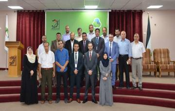 جوال ونقابة المهندسين يفتتحان قاعة المهندسين الكبرى بغزة