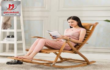 كرسي هزاز خشب بامبو