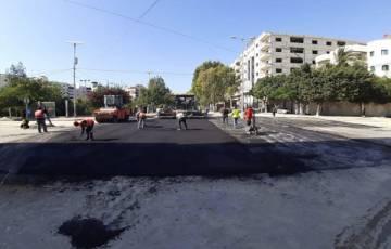 بلدية غزة تنجز أعمال صيانة شارع الأقصى (الصناعة)