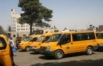 النقل والمواصلات في رام الله تصدر بيانا مهما بشأن عمل قطاع النقل العام